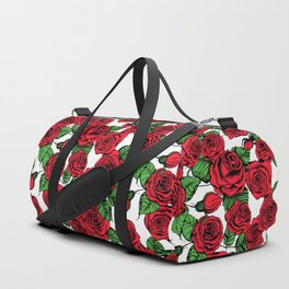 Red roses pattern Duffle Bag