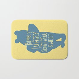 Rumbly in my Tumbly Time for Something Sweet - Winnie the Pooh inspired Print Bath Mat