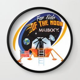 Far Side of the Moon Maibock Wall Clock