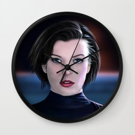 Milla Jovovich Wall Clock