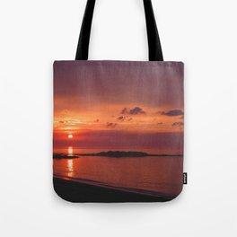 Red Orange Sunset Tote Bag