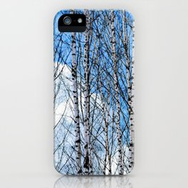 Birch Trees. Early Spring iPhone Case