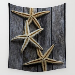 Starfishes in wooden Wall Tapestry