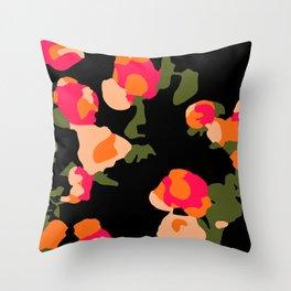 Tulips at Night Throw Pillow