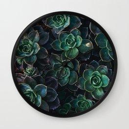 The Succulent Green Wall Clock