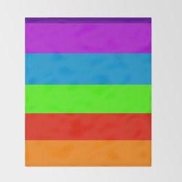 Fluorescent Rainbow |7 Colours Throw Blanket