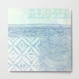 Blue Aloha Metal Print