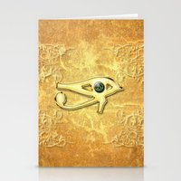 all seeing eye Stationery Cards featuring The all seeing eye by nicky2342