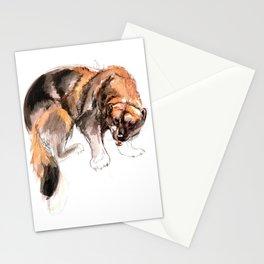 American Gulo gulo watercolor Stationery Cards