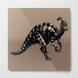 ChocoPaleo: Parasaurolophus Metal Print