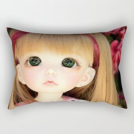 Mimi and the Butterfly Rectangular Pillow