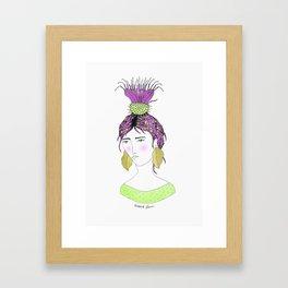 Burdock Girl Framed Art Print