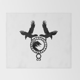 Raven - Fenrir Throw Blanket