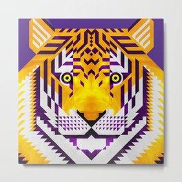 Tiger, LSU version Metal Print