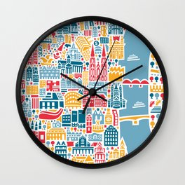Cologne City Map Poster Wall Clock