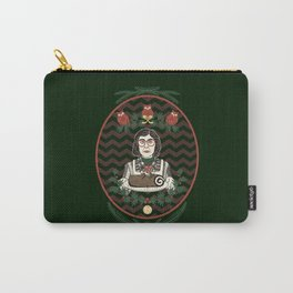 Yule Log Lady Carry-All Pouch