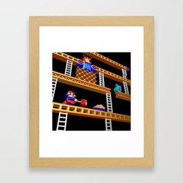 Inside Donkey Kong stage 2 Framed Art Print