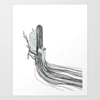 witch Art Prints featuring Witch by Sparganum