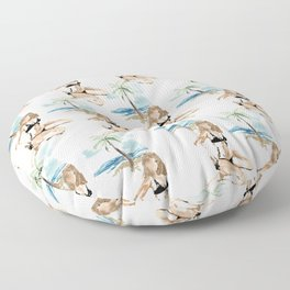 Aloha girl Floor Pillow