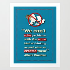 Einstein on Problem Solving Art Print