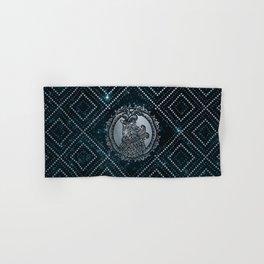 Capricorn Zodiac Silver Embossed on the Star sky Hand & Bath Towel
