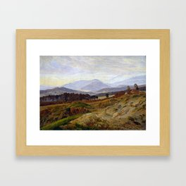 Caspar David Friedrich Mountain in Riesengebirge Framed Art Print