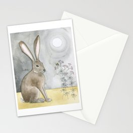 Hare and Cricket Stationery Cards