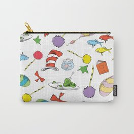 dr seuss pattern..  cat in the hat, lorax, oh the places you'll go,  Carry-All Pouch