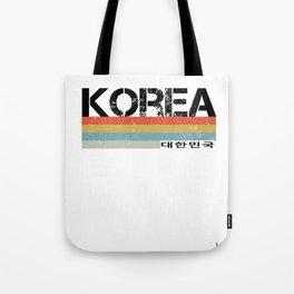 Korea & Korean Language Hangul Retro Vintage  Design Tote Bag