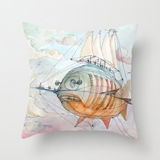 The Flying Fish! Throw Pillow