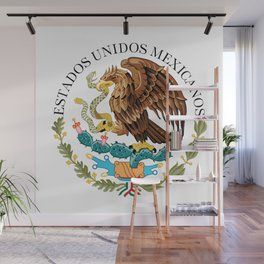 Coat of Arms & Seal  of Mexico on white Wall Mural