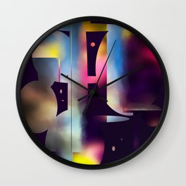 60s Mod Spaceship Abstract Wall Clock