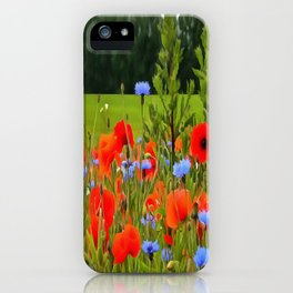 Poppies And Cornflowers iPhone Case