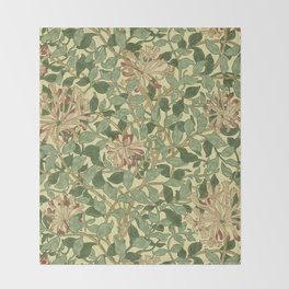 William Morris Honeysuckle Throw Blanket