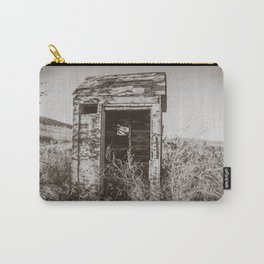 Outhouse, Hurd Round House, ND 3 Carry-All Pouch