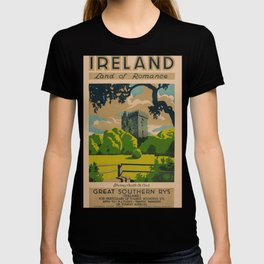 Irleand Land of Romance Travel Poster T-shirt