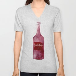 Santa Rosa, CA - Wine Country Love Unisex V-Neck