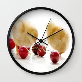 Sweet Chick and red Cherry Wall Clock