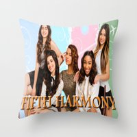 fifth harmony Throw Pillows featuring fifth harmony best design home decoration ideas by customgift
