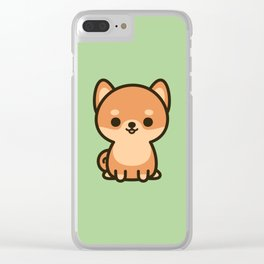 Cute shiba inu Clear iPhone Case