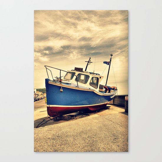 Boat a  shore Canvas Print