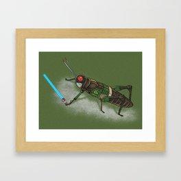 Locust Rider Black RX Framed Art Print