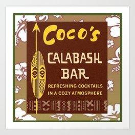 Tiki Art - Coco's Calabash Bar Art Print