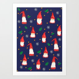 Christmas Gnomes- Hope for Lizzy Fundraiser Art Print