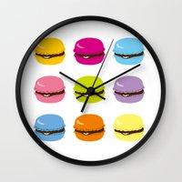 macaron Wall Clocks featuring macaron by taichi_k
