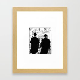 Men out of their Time Framed Art Print