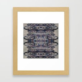 Futuristic Architecture Tube Cage Building Framed Art Print