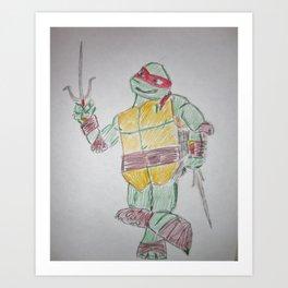 Ninja Turtles Raph Art Print