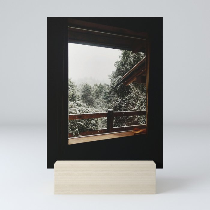 Snow from the house, Bariloche Mini Art Print