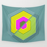 illusion Wall Tapestries featuring ILLUSION by d.ts